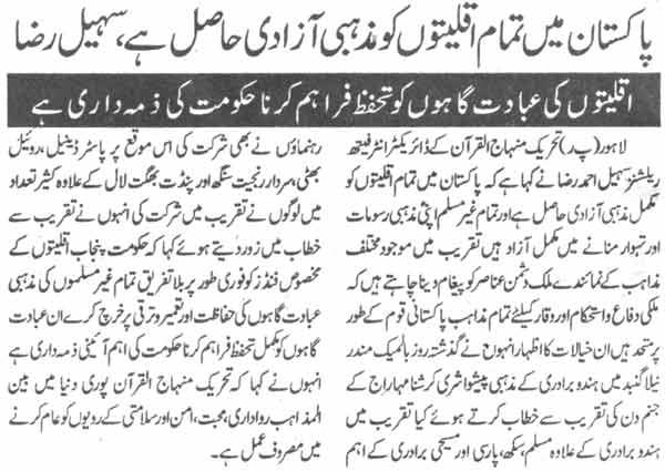 Minhaj-ul-Quran  Print Media CoverageDaily Pakistan Page-2