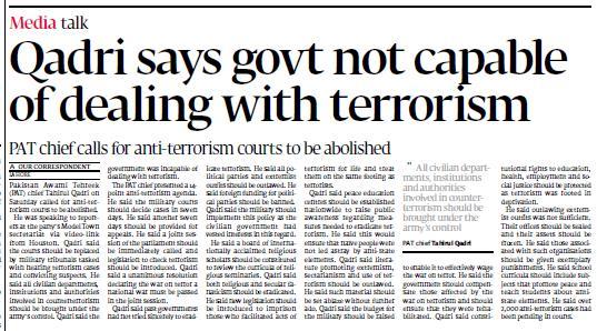 Pakistan Awami Tehreek  Print Media Coverage Daily Express Tribune Page City-2