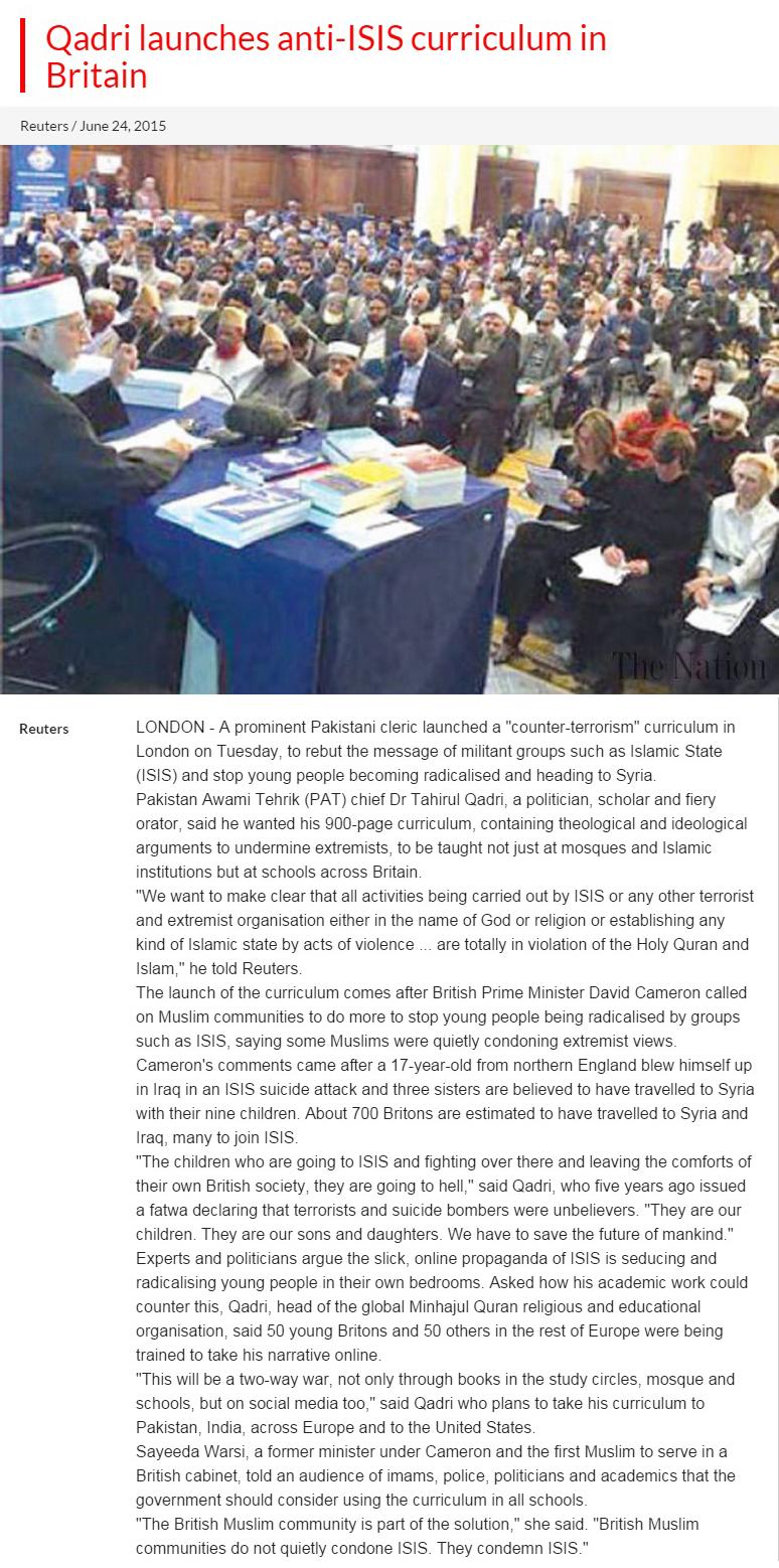 Pakistan Awami Tehreek  Print Media Coverage DAILY THE NATION PAGE 2