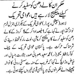 Pakistan Awami Tehreek  Print Media Coverage DAILY NAWA E WAQAT PAGE 10