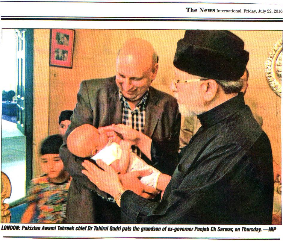 Pakistan Awami Tehreek  Print Media Coverage DALIY THE NEWS CITY PAGE