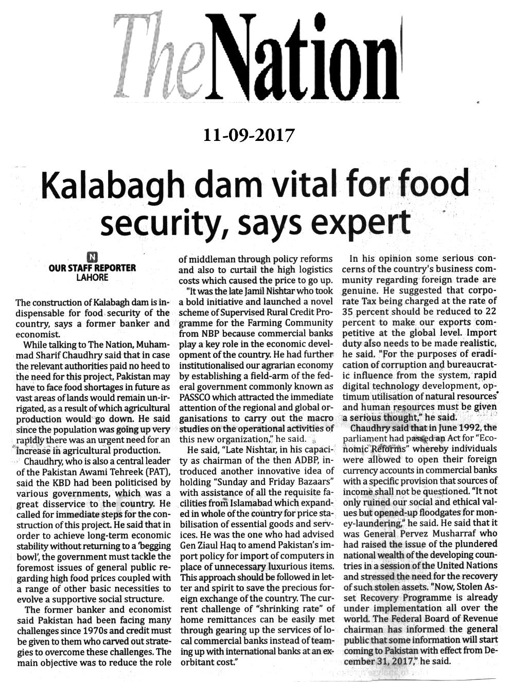 Pakistan Awami Tehreek  Print Media Coverage The Nation