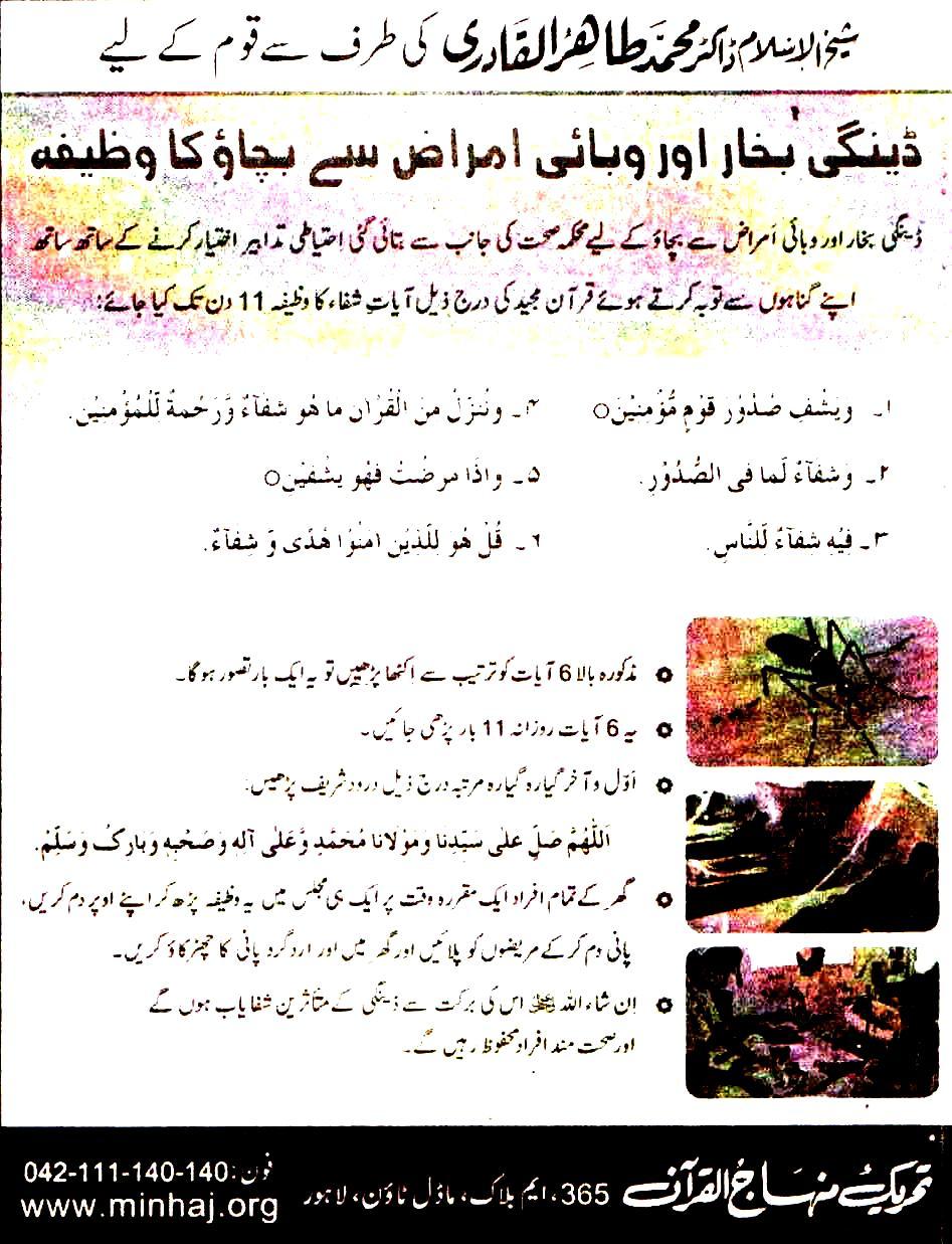 Minhaj-ul-Quran  Print Media CoverageDaily Madar Back Page