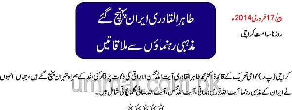 Mustafavi Student Movement Print Media Coverage Daily Ummat Page 8