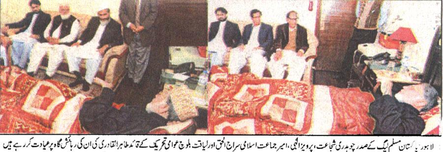 Pakistan Awami Tehreek  Print Media Coverage Daily Azad-Riasat