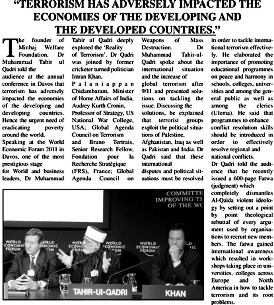 Minhaj-ul-Quran  Print Media CoverageWeekly Urdu Time London Page 13