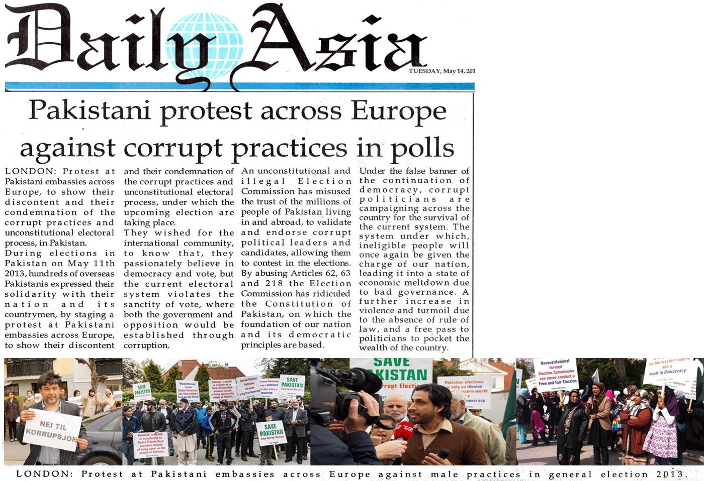 Minhaj-ul-Quran  Print Media CoverageDaily Asia London