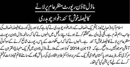 Minhaj-ul-Quran  Print Media CoverageNai Baat Back-Page